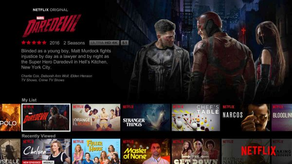 Netflix glavni ekran