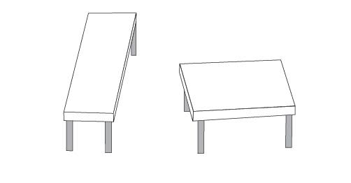optička iluzija dva stola