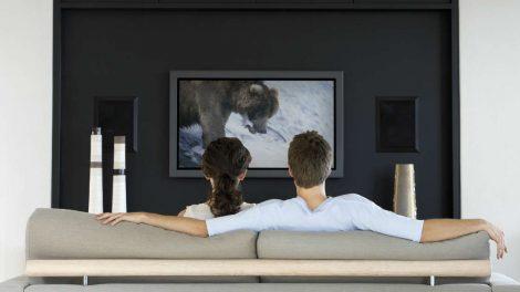 par gleda televiziju
