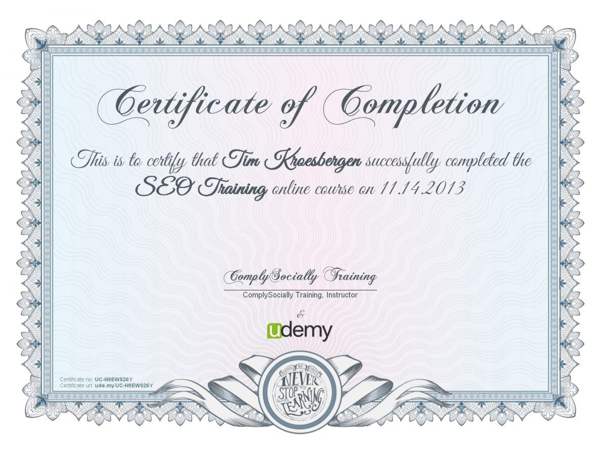 Primer SEO sertifikata
