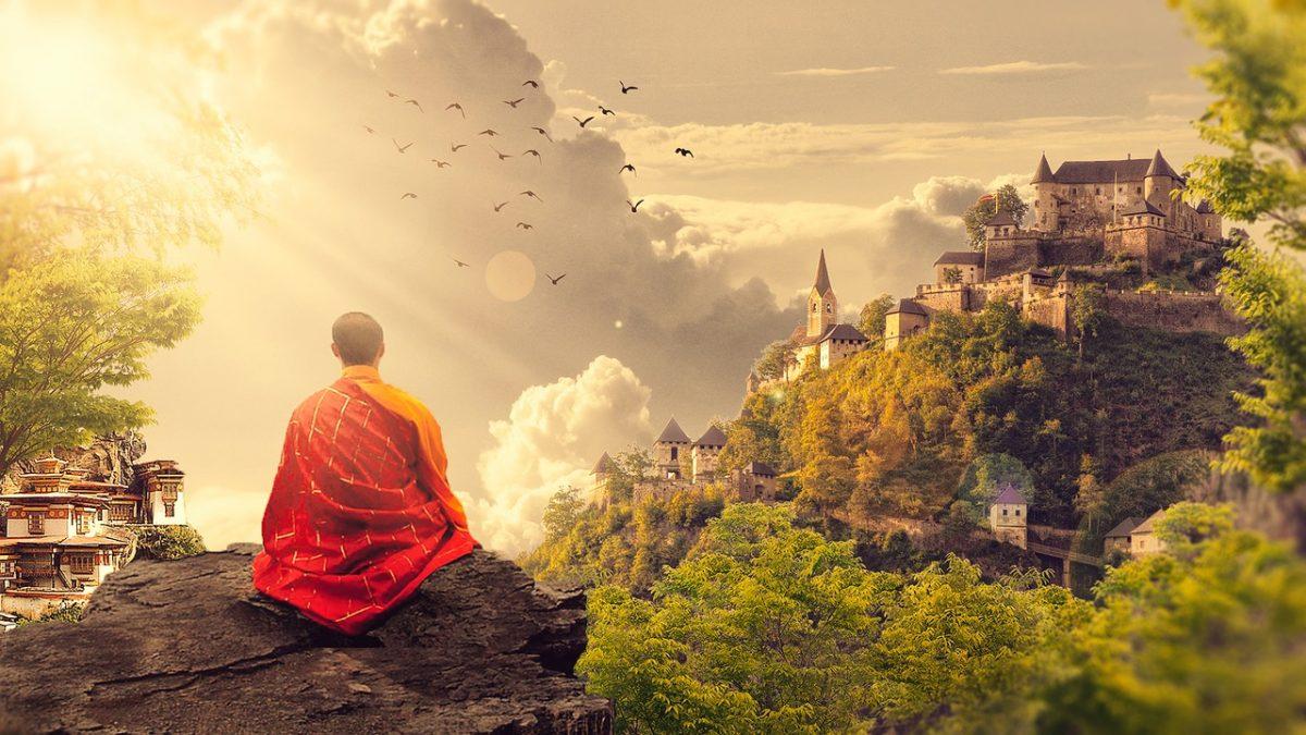 Budistički monah u meditaciji