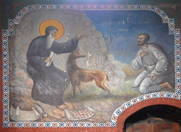 Freska u manastiru Prohor Pčinjski