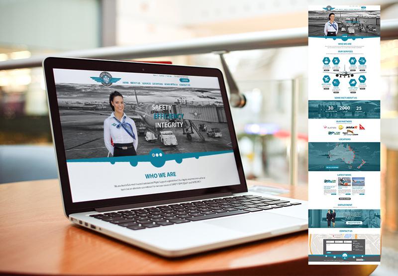 Dizajn sajta usklađen sa logom