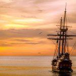 Brod zalazak sunca