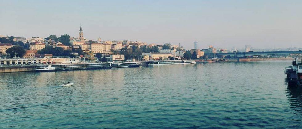 Panorama Beograda na ušću Dunava u Savu
